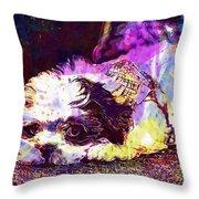 Dog Noddy Lhasa Apso Pet Puppy  Throw Pillow