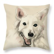 Dog Olaf Throw Pillow by Go Van Kampen