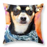 Dog Portrait. Throw Pillow