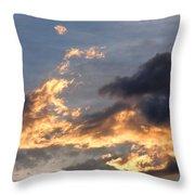 Dog Race Cloudscape 1 Throw Pillow