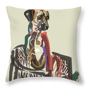 Dog Scoop Throw Pillow by Go Van Kampen
