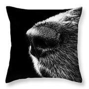 Dog Smeller Throw Pillow