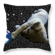 Dog Star Attempt Two Throw Pillow