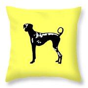 Dog Tee Throw Pillow