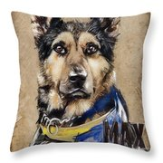 Dog Traditional Drawing Throw Pillow