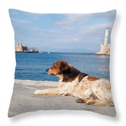 Dog Watch Throw Pillow