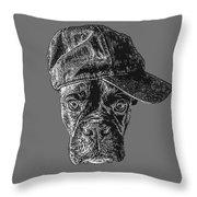 Dog With Attitude Throw Pillow