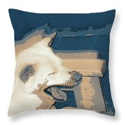 Doge Sneeze 3 Throw Pillow