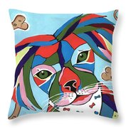 Doggie Dreams - Cute Animals Throw Pillow