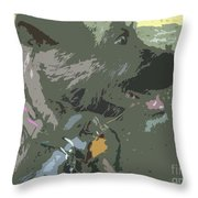 Doggie Side Throw Pillow