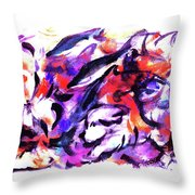 Doggies And Dolphins Throw Pillow