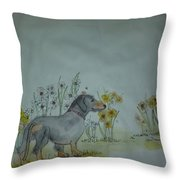 Dogs Dogs  Dogs Album Throw Pillow
