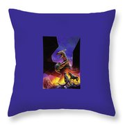 dogs of the future Keith Parkinson Throw Pillow