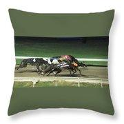 Dogs Racing Throw Pillow