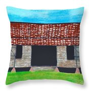 Dogtrot Cracker Home  Throw Pillow