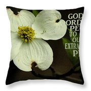 Dogwood Bloom / Flower Throw Pillow
