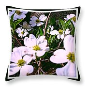 Dogwood Blossoms Pair Up Throw Pillow