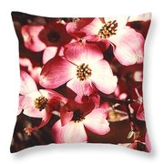 Dogwood Harmony Throw Pillow