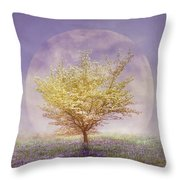 Dogwood In The Lavender Mist Throw Pillow