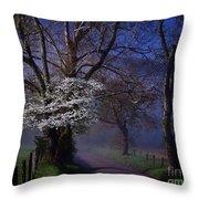 Dogwood Morning Throw Pillow