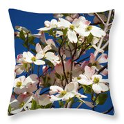 Dogwood Sky Throw Pillow
