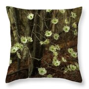Dogwoods In The Spring Throw Pillow