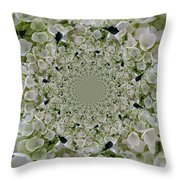 Doily Of Flowers Throw Pillow