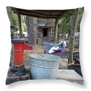Doing Laundry Throw Pillow