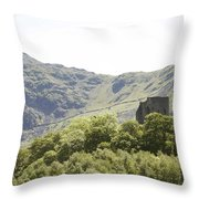Dolbadarn Castle.  Throw Pillow