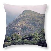 Dolbadarn Castle Close To Llanberis Pass Throw Pillow