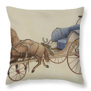 Doll Carriage Throw Pillow