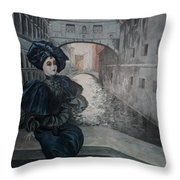 Doll In Venice Throw Pillow