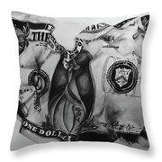 Dollar Bill Throw Pillow