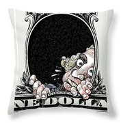 Dollar Fear Throw Pillow
