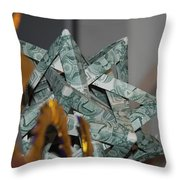 Dollar Origami Throw Pillow