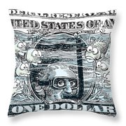 Dollar Submerged Throw Pillow