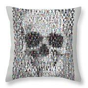Dolls Skull Mosaic Throw Pillow
