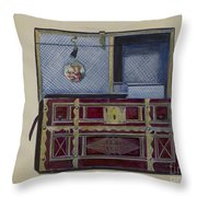 Doll's Trunk Throw Pillow