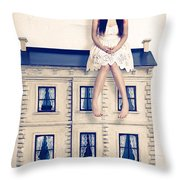 Dolly And Her House Throw Pillow