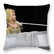 Dolly At The Pianao Throw Pillow