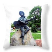 Dolly Pardon Statue 2 Throw Pillow