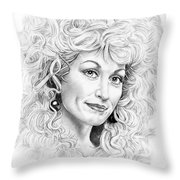 Dolly Parton Throw Pillow