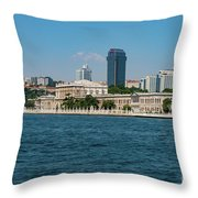 Dolmabahce Palace On The Bosphorus Throw Pillow