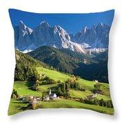 Dolomites, Italy #3 Throw Pillow
