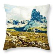 Dolomites, Monte Piana, Italy Throw Pillow
