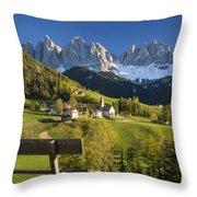 Dolomites View Throw Pillow