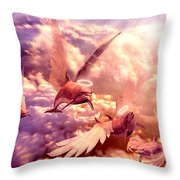 Dolphin Angels Throw Pillow