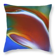 Dolphin Dive Throw Pillow