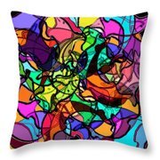 Dolphin Kaleidoscope Throw Pillow