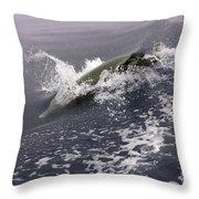 Runnin' Dolphin  Throw Pillow